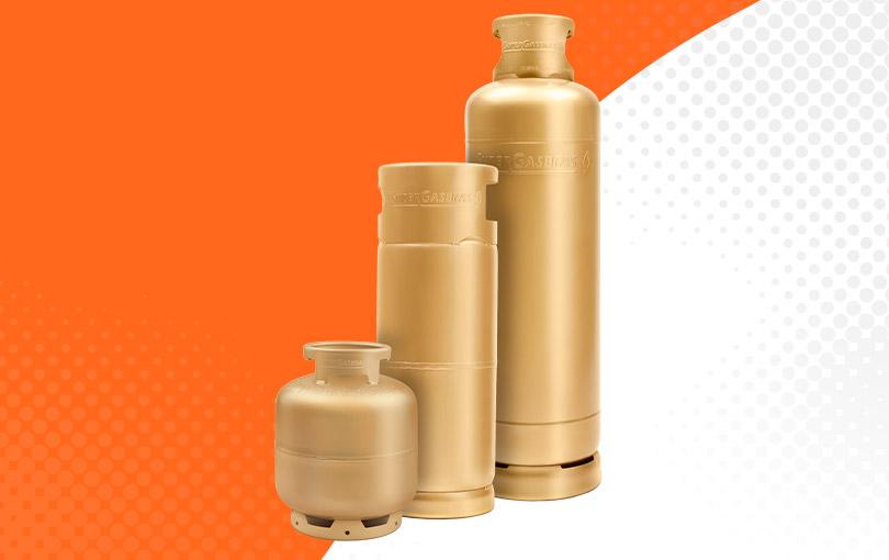 veja a diferença entre os tamanhos de botijoes e cilindros de gas